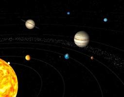 solar system 3d animated