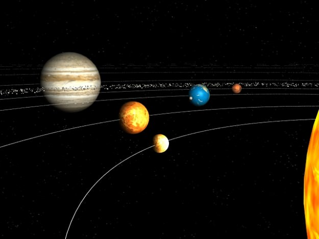 solar system of 3 d - photo #1