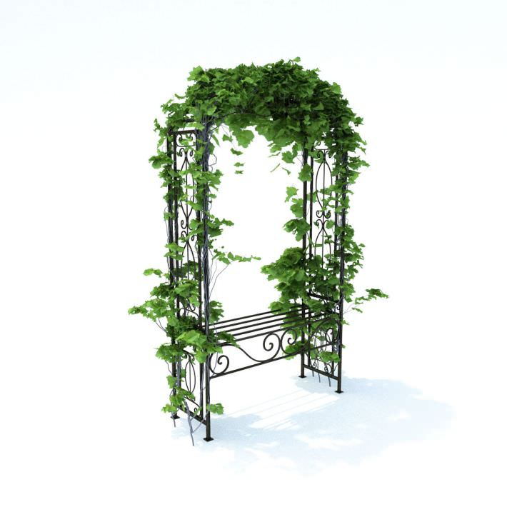 Green pergola decoration 3d model for 3d model decoration