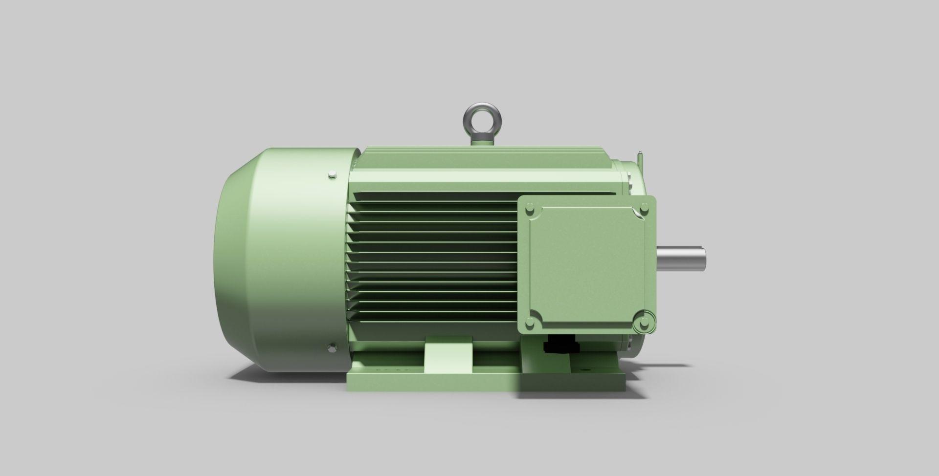315M-B3 Left 2-Pole - Electric Motor - Free 3D CAD Model
