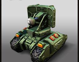 Cartoon Tank Radar 3D Model