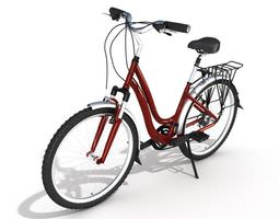 3d red bike with handle breaks