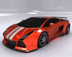 3d model lamborghini gallardo - most wanted edition