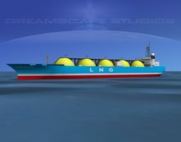 3d model lng tanker ship rigged