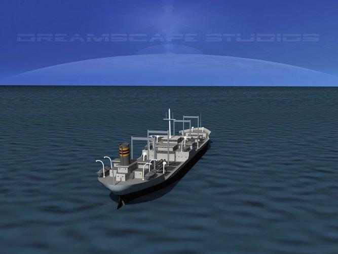 tanker ship 1940s era 3d model max obj mtl 3ds lwo lw lws dxf stl 1