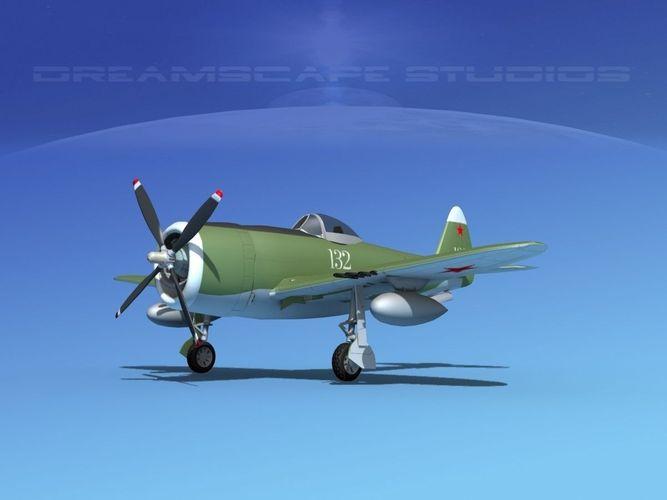 republic p-47d thunderbolt v08 3d model animated max obj mtl 3ds lwo lw lws dxf dae 1