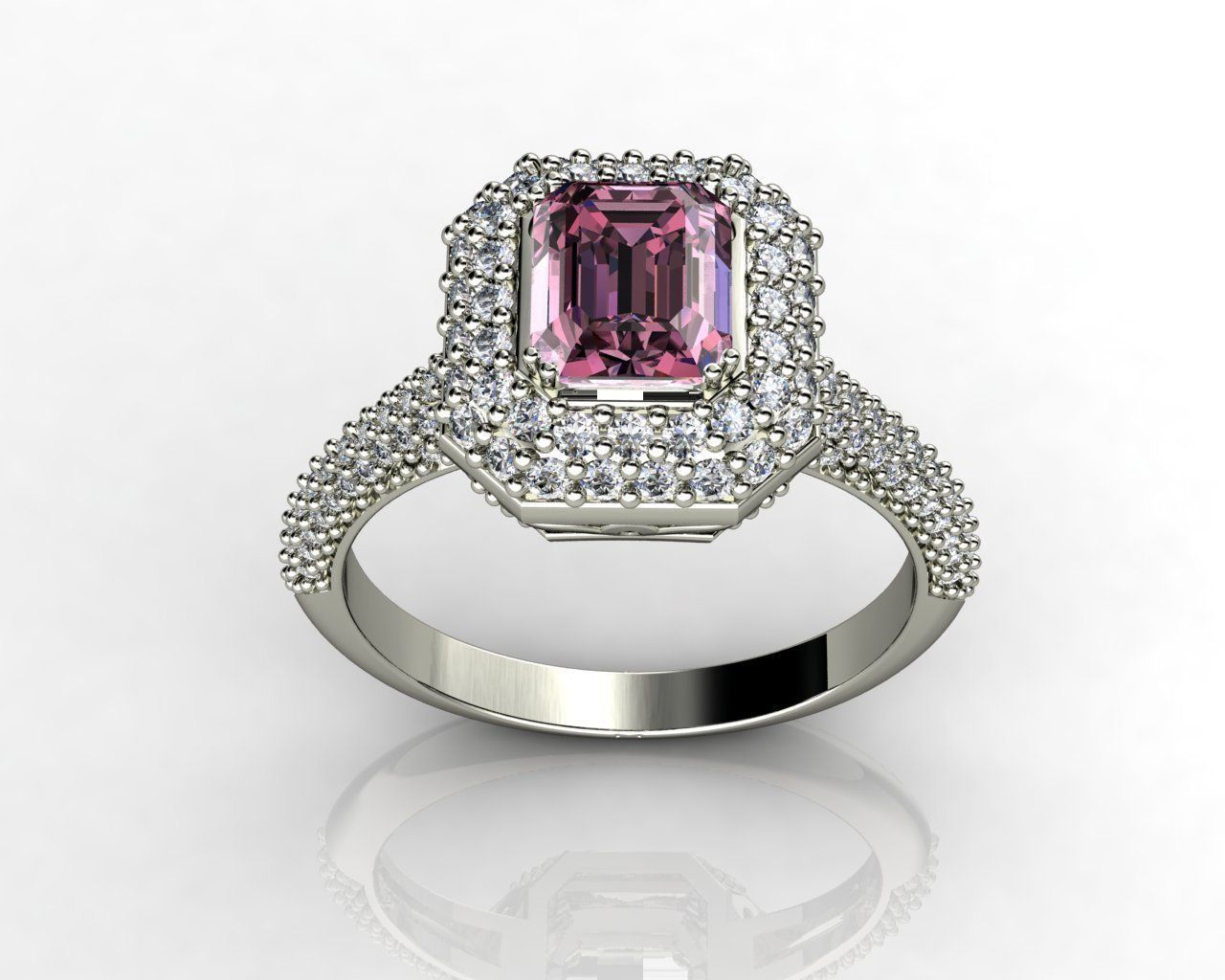white rings gold diamond double halo engagement products jewellery pink ring