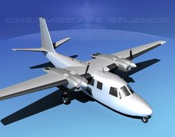 3d aero commander 560 bare metal animated