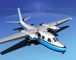 rockwell aero commander 560 v03 3d animated
