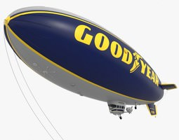 3D Good Year Blimp zeppelin