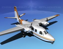 rockwell aero commander 560 v14 animated 3d