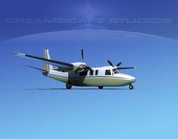 3D model Rockwell Turbo Commander 690 V03