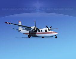 Rockwell Turbo Commander 690 V05 3D model