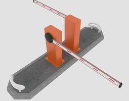 realtime road barrier 3d asset
