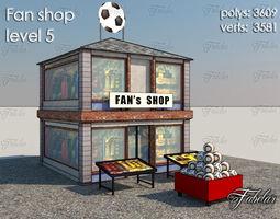 3d model VR / AR ready fan shop level 5