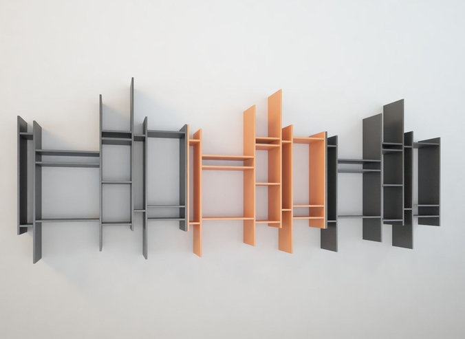 Bookcase modern design MDF Randomito