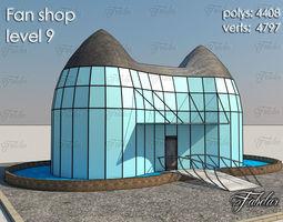3D model low-poly Fan Shop