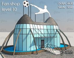 fan shop level 10 realtime 3d model