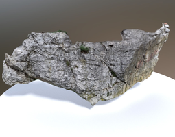 game-ready scanned white rock wall PBR 3d asset