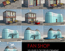 3D asset Fan Shop all 10 Levels