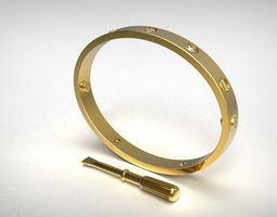 Cartier Love Bracelet 3D Model
