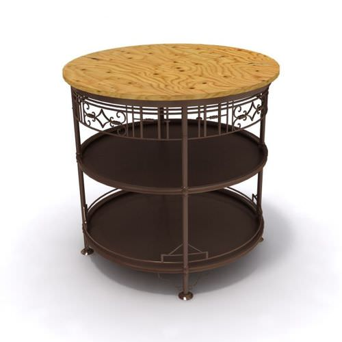 Round Accessory Table3D model