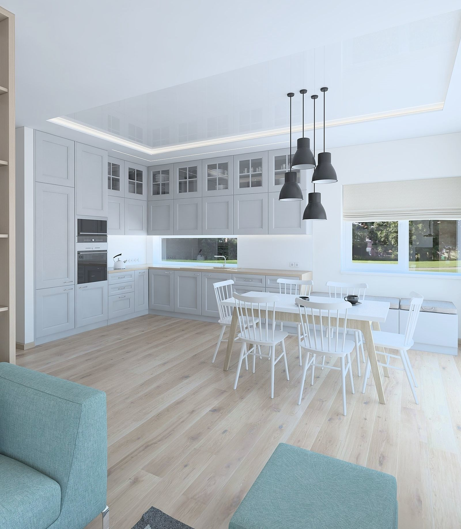 Beautiful living room whit kitchen 3D | CGTrader