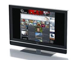 3d model flat screen monitor