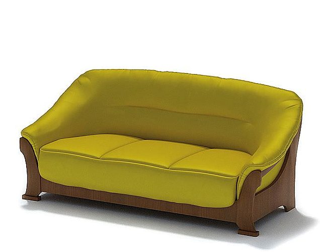 Lime Green Couch 3d Model
