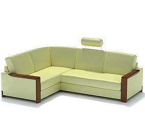 3D Yellow Classic Couch