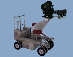 Camera and Camera Dolly 3D Model