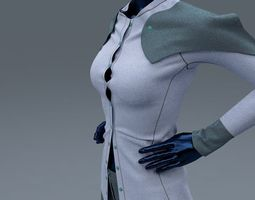 female shirt and trousers 3d