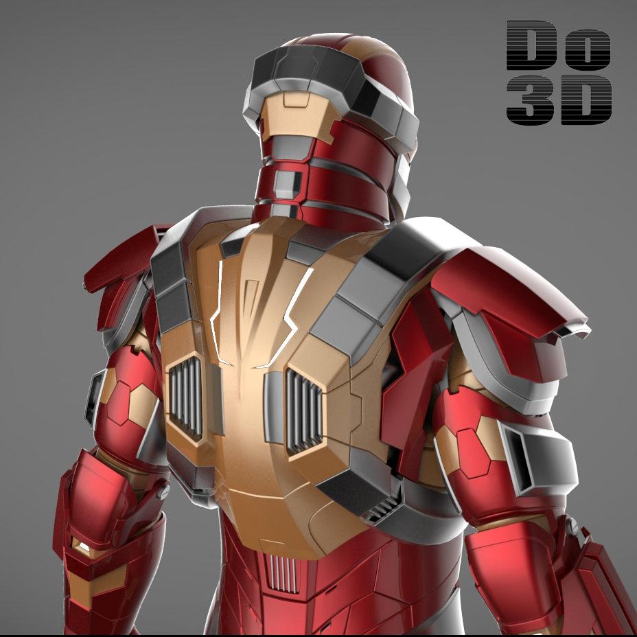 Iron Man 3 Armor Suits Mark 17 - CGTrader.com