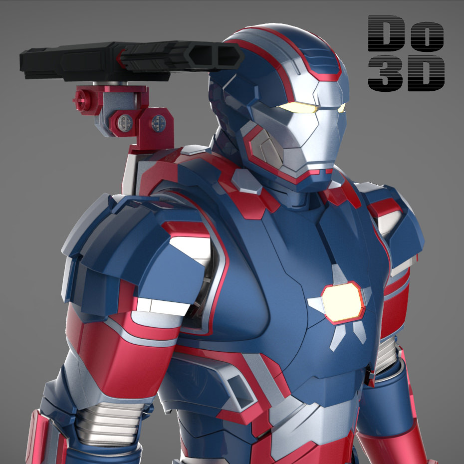 Iron Man 3 Suits - Mark 42 Tony Stark Armo... 3D Model ...