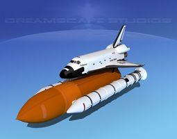 3d rigged space shuttle endeavour launch lp 1-4