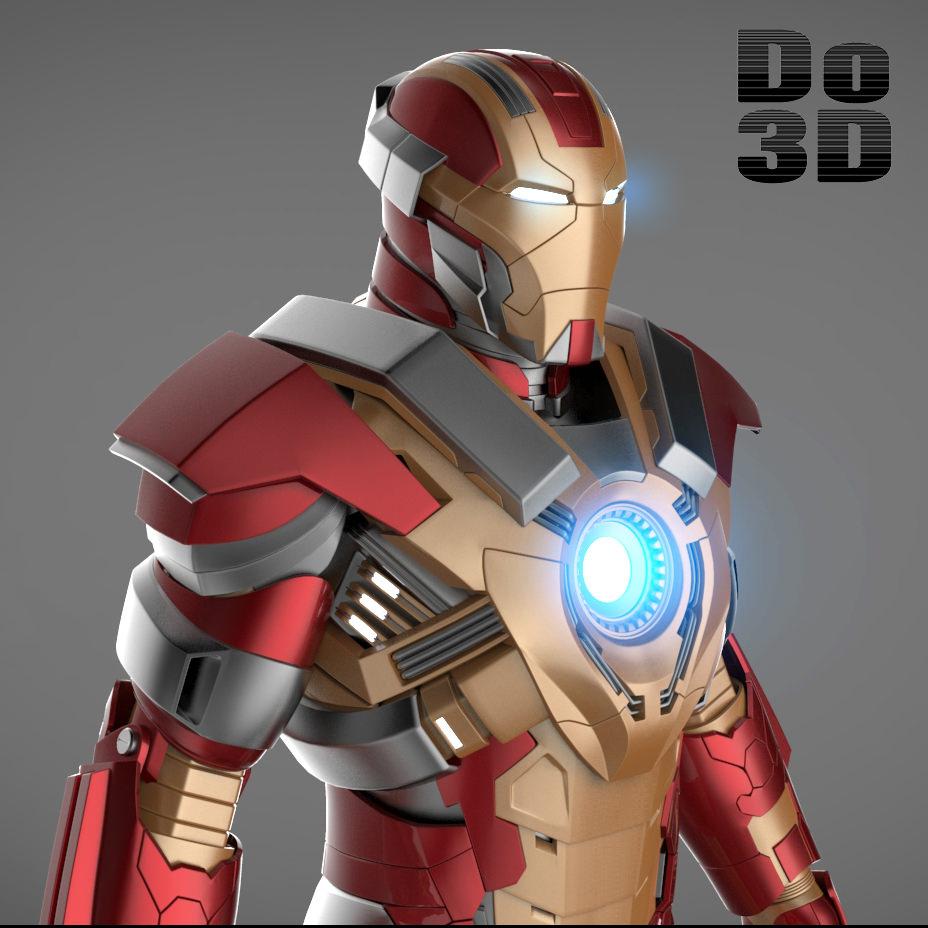 Iron Man 3 Suits - Mark 42 Patriot Mark 17 3D Model .max ...