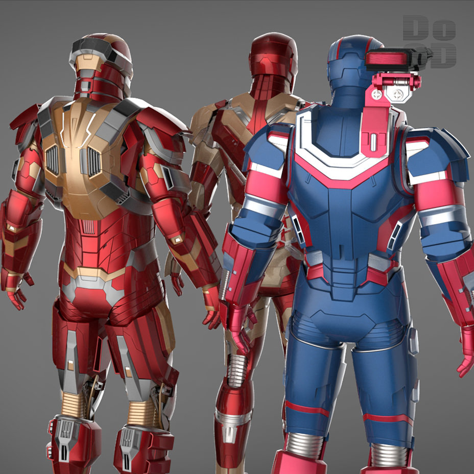 Iron Man 3 Suits - Mark 42 Patriot Mark 17 3D Model .max ...