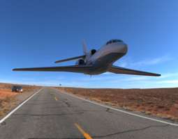 Dassault Falcon 50 3D Model