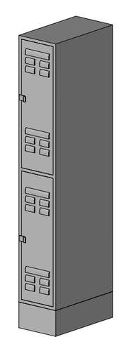 Locker_double vertical. 3D Model .rfa