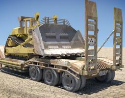 Bulldozer Trailer 3D Model