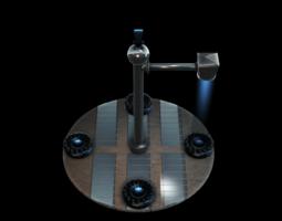 Teleport Station 3D Model