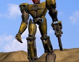 3d asset realtime sand marauder robot character rigged