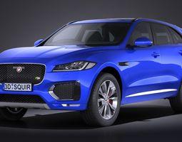jaguar f-pace s 2017 3d model max obj 3ds fbx c4d lwo lw lws