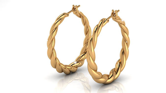 gipsy gold earrings 3d model stl 3dm 1