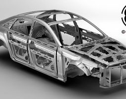 3D model Generic Car Body in white