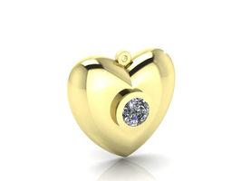 Golden Heart Pendants 3D Model