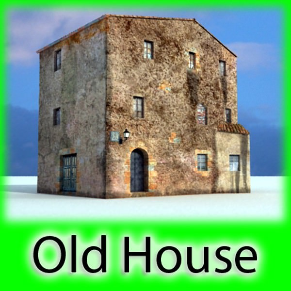 Old European House Detailed Realistic