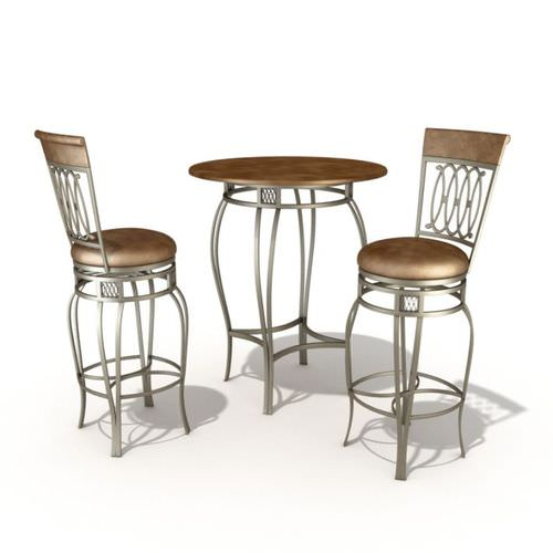 Bar Set Table And Chairs3D model