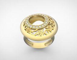 3D printable model Carrera y Carrera Ring gemstone