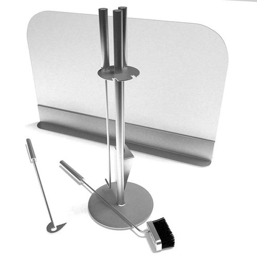 stainless fireplace cleaning tools 3d model  1